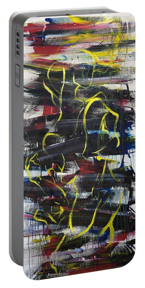 Black Portable Battery Charger featuring the painting The Noose by Sheridan Furrer