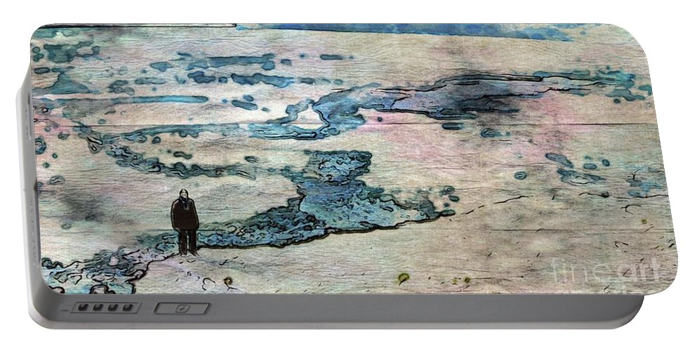 Man Portable Battery Charger featuring the painting The Nowhere Man By Mary Bassett by Mary Bassett