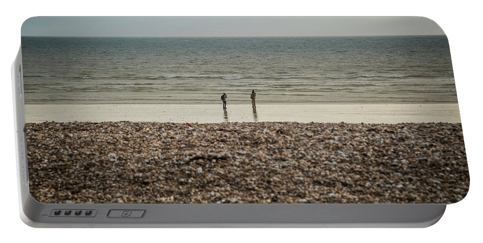 Bognor Regis Portable Battery Charger featuring the photograph The Ocean Can Make You Feel Small, Bognor Regis, Uk. by William Mankelow