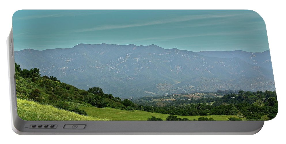 Landscape Portable Battery Charger featuring the photograph The Ojai Valley by Diana Hatcher