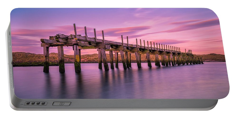 Old Bridge Portable Battery Charger featuring the photograph The Old Bridge at Sunset by Roy McPeak