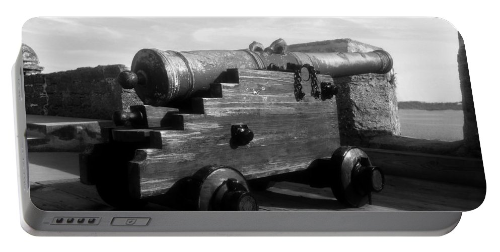 Castillo De San Marcos National Monument Portable Battery Charger featuring the photograph The Old Castillo by David Lee Thompson
