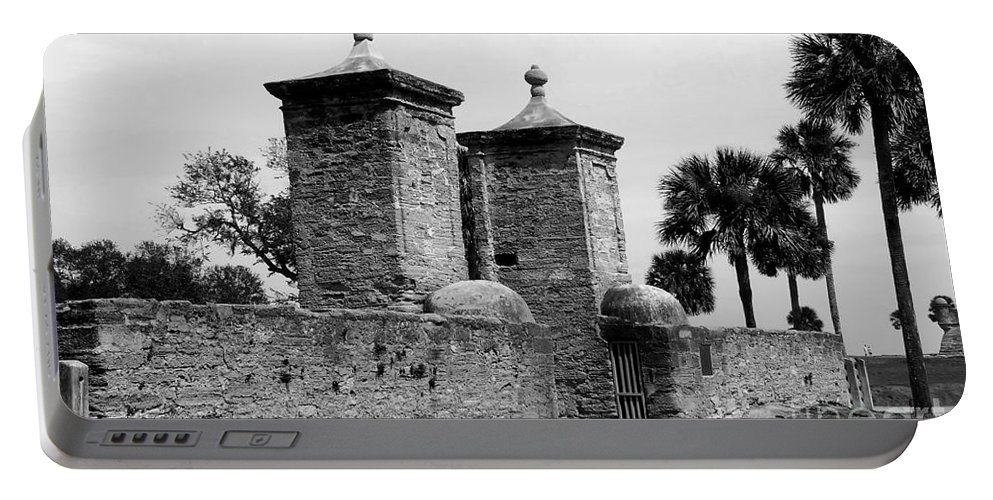 Saint Augustine Florida Portable Battery Charger featuring the photograph The Old City Gates by David Lee Thompson