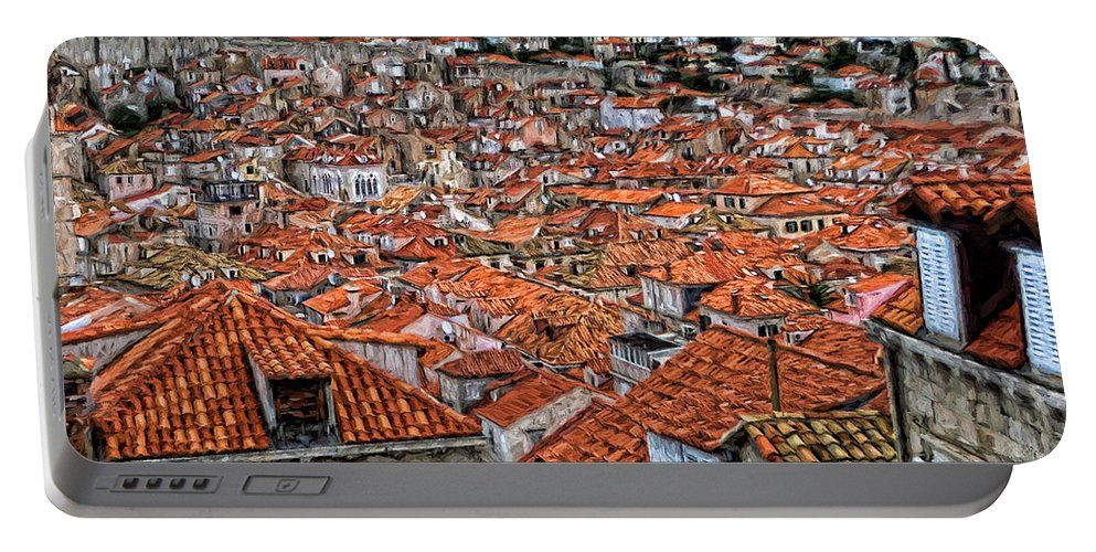 Travel Portable Battery Charger featuring the photograph Dubrovnik Rooftops by Peter Hogg