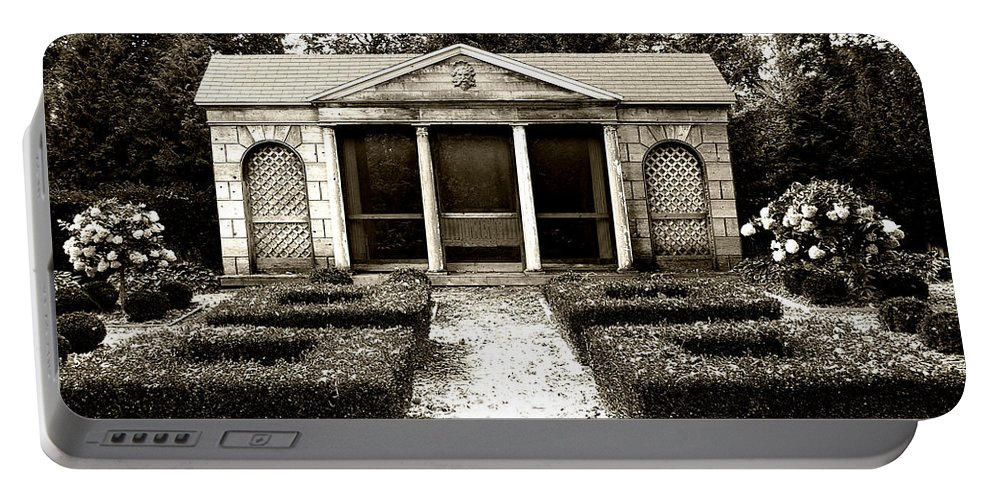 Garden Portable Battery Charger featuring the photograph The Old Garden House by Tom Reynen