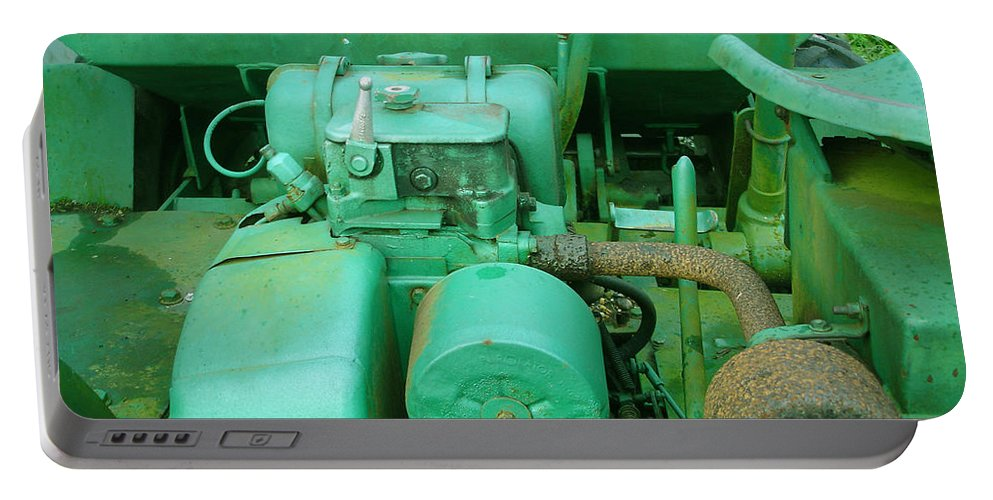 Machine Portable Battery Charger featuring the photograph The Old Green Dumper by Susan Baker