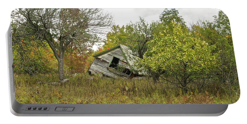 Michigan Portable Battery Charger featuring the photograph The Old Homestead And Orchard by Michael Peychich