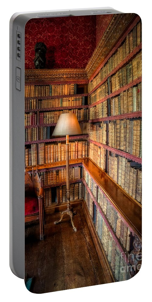 Library Portable Battery Charger featuring the photograph The Old Library by Adrian Evans