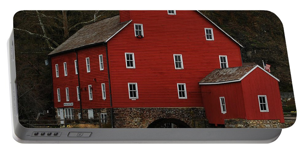 Water Mill Portable Battery Charger featuring the photograph The Old Mill In Clinton Nj by Lori Tambakis