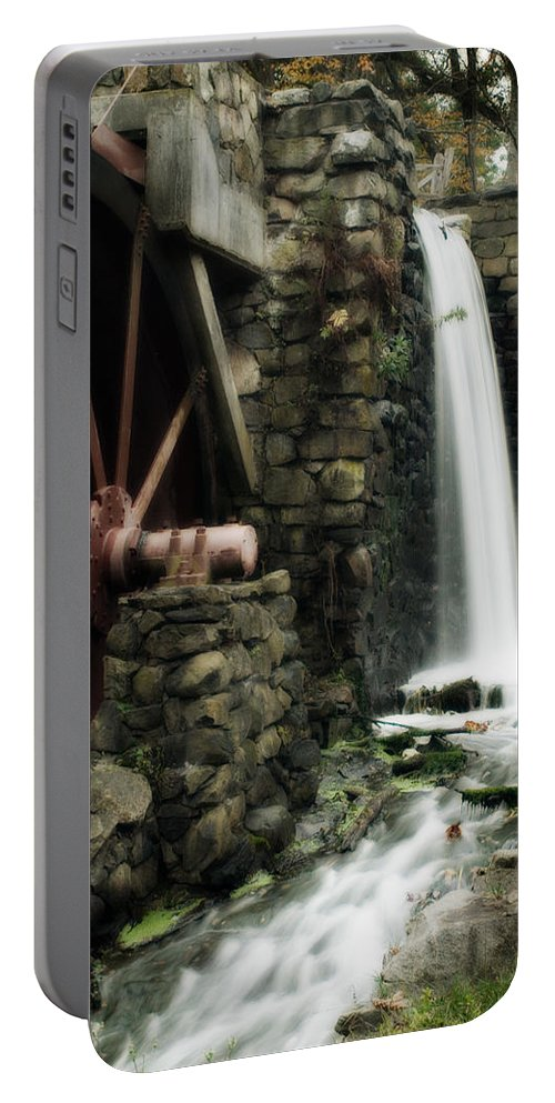Longfellow's Wayside Inn Portable Battery Charger featuring the photograph The Old Mill by Renee Hong