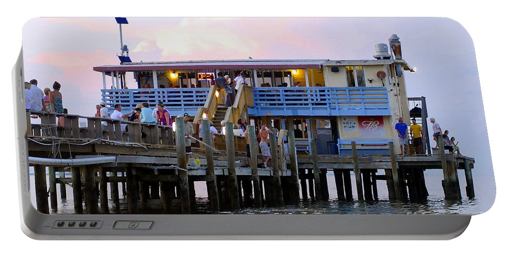 Fishing Pier Portable Battery Charger featuring the photograph The Old Pier by David Lee Thompson