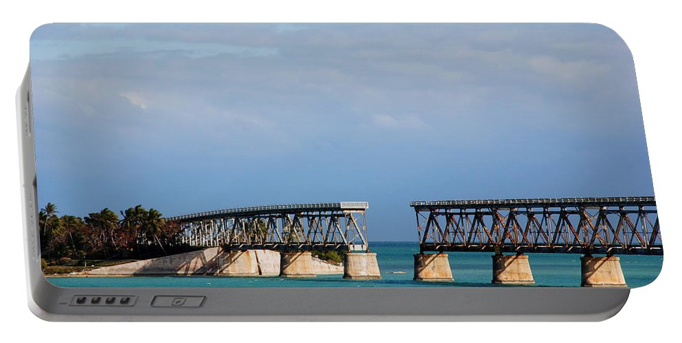 Flagler Portable Battery Charger featuring the photograph The Old Railroad To The Keys by Susanne Van Hulst