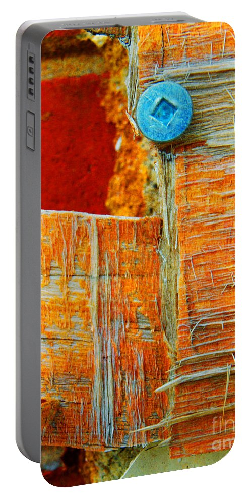 Macro Portable Battery Charger featuring the photograph The Old School by Tara Turner