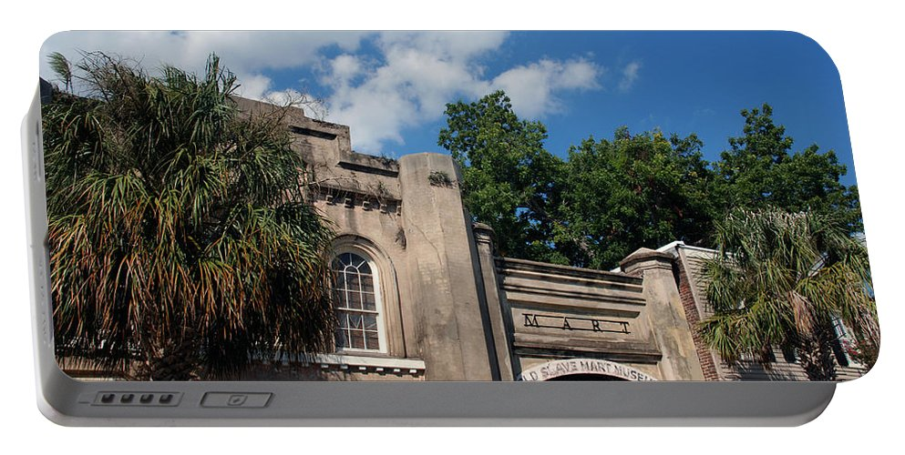 Photography Portable Battery Charger featuring the photograph The Old Slave Market Museum In Charleston by Susanne Van Hulst