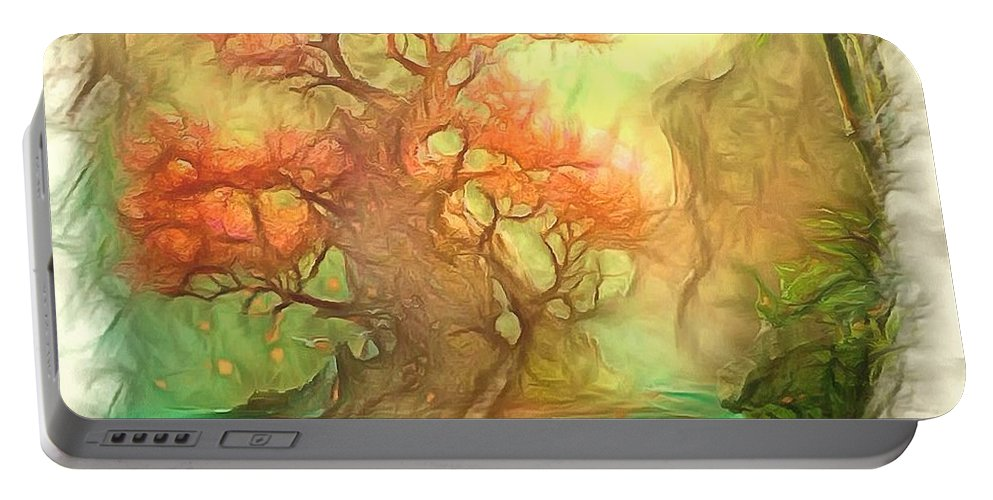 Digital Photo Art Portable Battery Charger featuring the photograph The Old Tree Of The Forest by Mario Carini