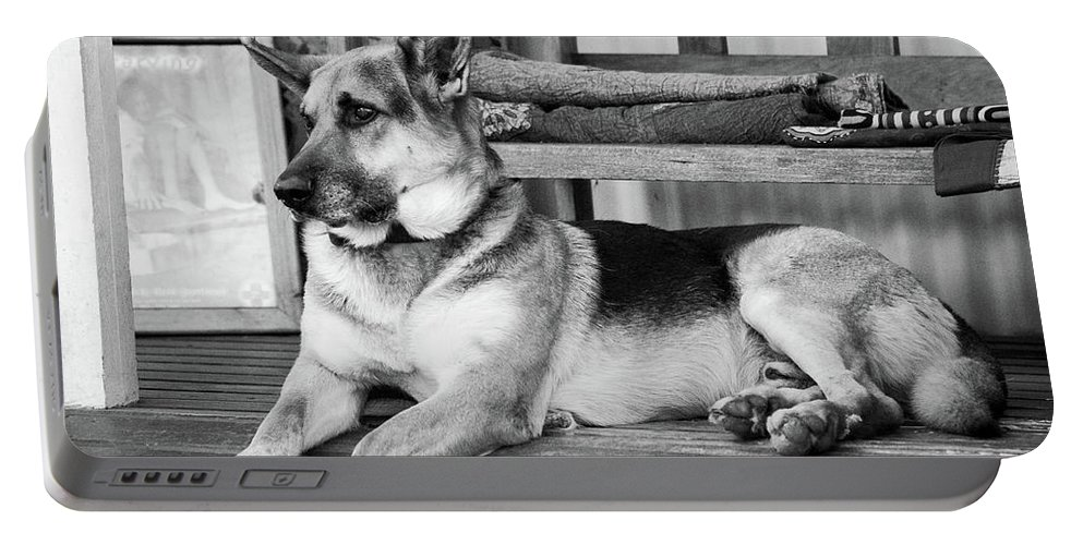 German Shepherd Dog Portable Battery Charger featuring the photograph The Old Watch Dog by Tracey Beer