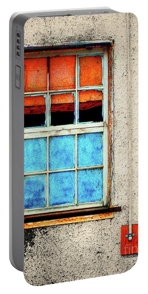 Window Portable Battery Charger featuring the photograph The Old Window by Tara Turner