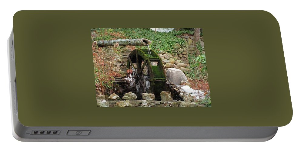 Landscape Portable Battery Charger featuring the photograph The Ole Mill by Kathy R Thomas