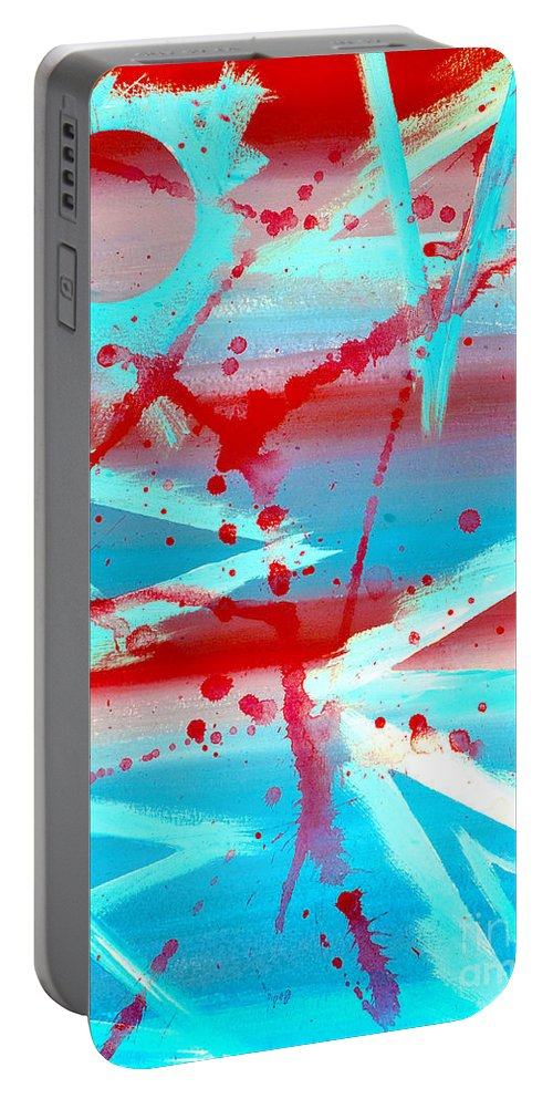 Abstract Portable Battery Charger featuring the painting The Olympiad by Bruce Stanfield