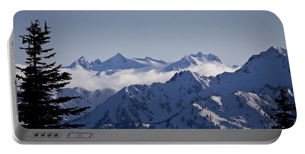 Mt Olympus Portable Battery Charger featuring the photograph The Olympics by Albert Seger