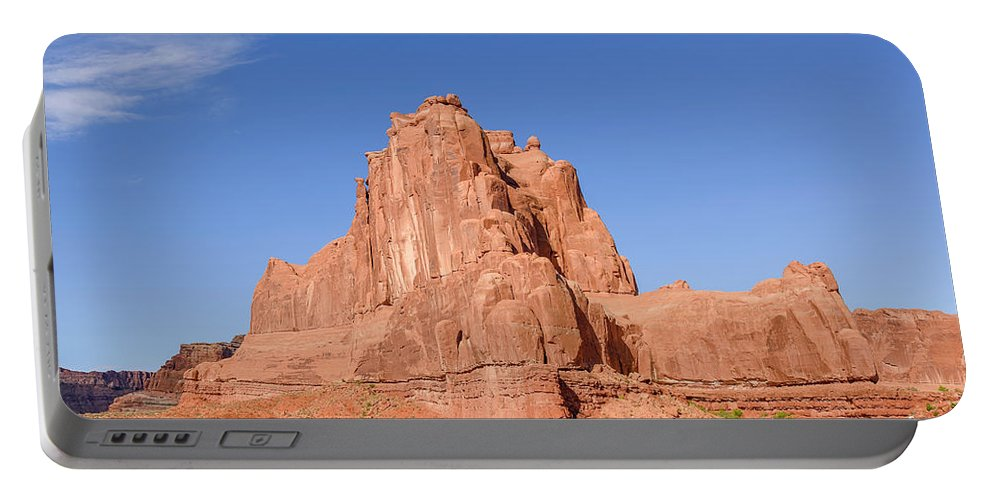Arches National Park Portable Battery Charger featuring the photograph The Organ by Jim Thompson