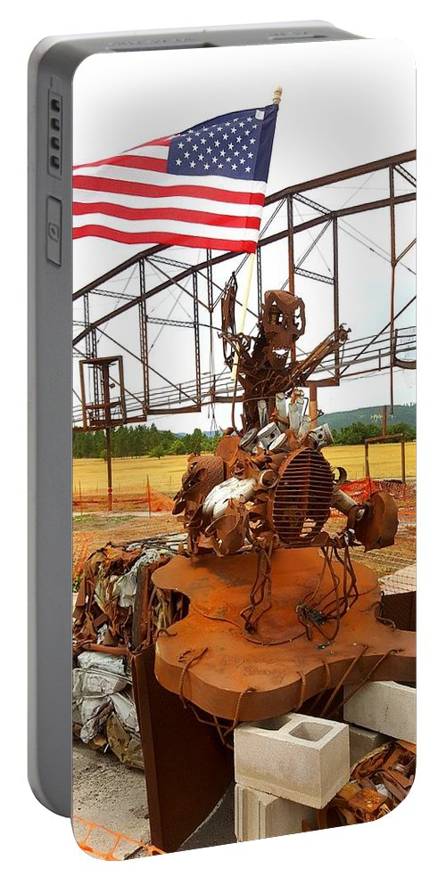 Portable Battery Charger featuring the photograph The Origional Full Throttle Saloon by Tony Culpepper
