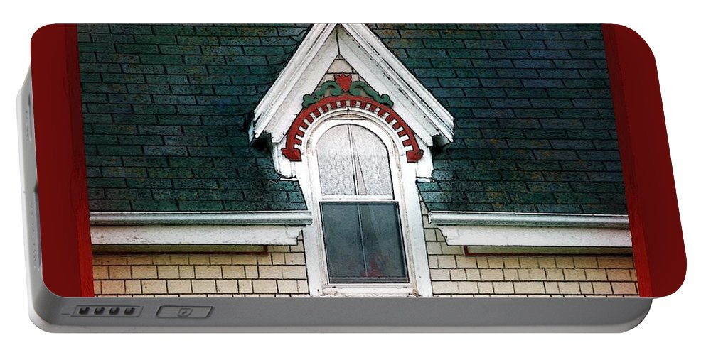 Canada Portable Battery Charger featuring the painting The Ornamented Gable by RC DeWinter