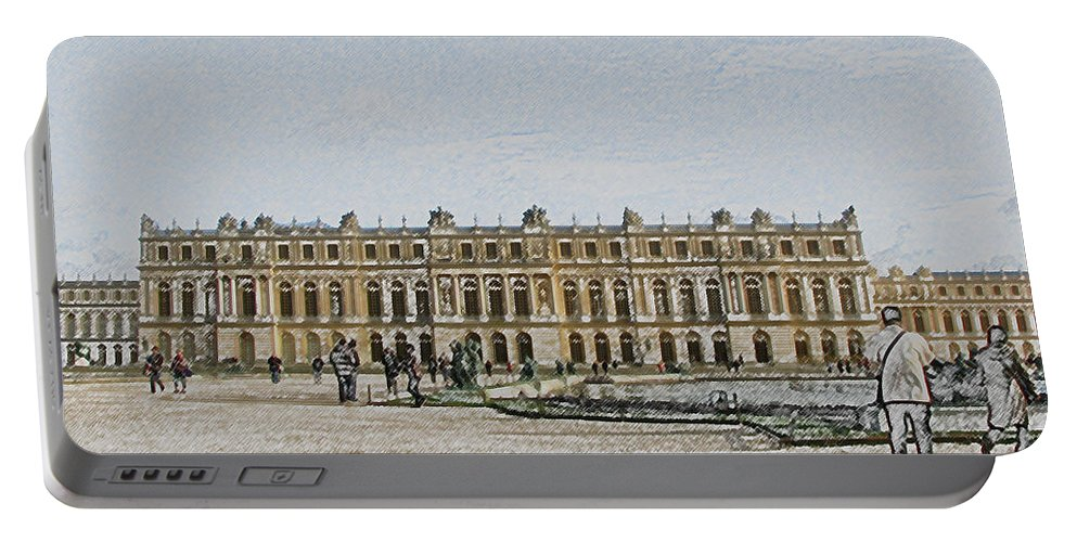 Palace Portable Battery Charger featuring the photograph The Palace Of Versailles by Amanda Barcon