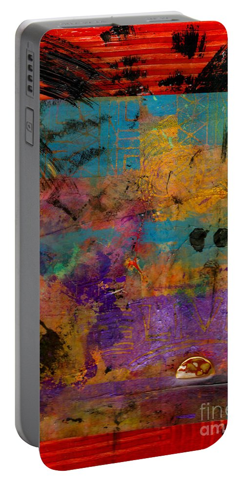 Prayers Portable Battery Charger featuring the mixed media The Parable by Angela L Walker