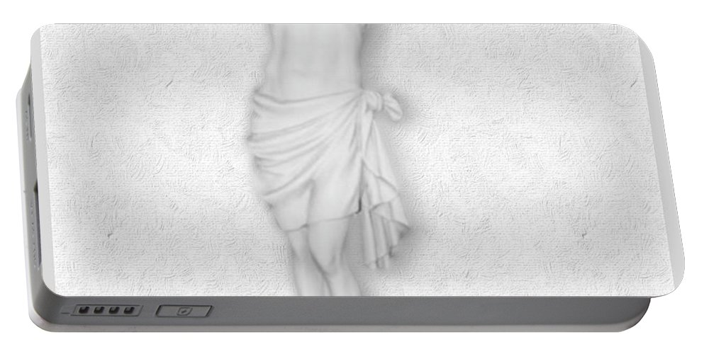 Jesus Christ Portable Battery Charger featuring the painting The Passion Of The Christ by Tony Rubino