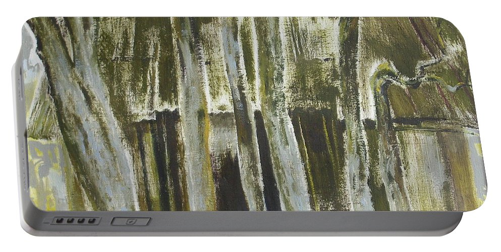 Oil Portable Battery Charger featuring the painting The Past Space by Sergey Ignatenko