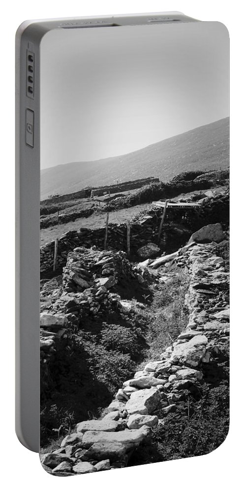 Irish Portable Battery Charger featuring the photograph The Path To The Beehive Huts In Fahan Ireland by Teresa Mucha