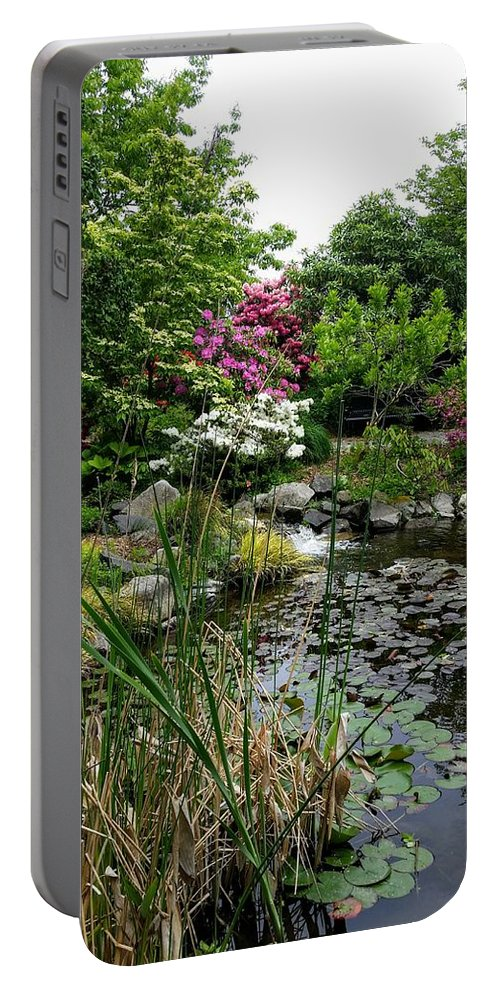 Botanical Flower's Nature Portable Battery Charger featuring the photograph The peaceful place 12 by Valerie Josi