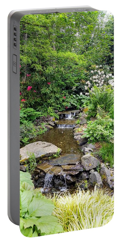 Botanical Floral Nature Portable Battery Charger featuring the photograph The peaceful place 3 by Valerie Josi