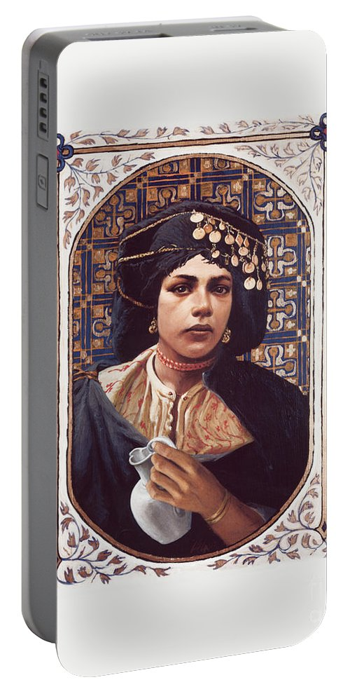 The Penitent Woman Portable Battery Charger featuring the painting The Penitent Woman - Lgtpw by Louis Glanzman