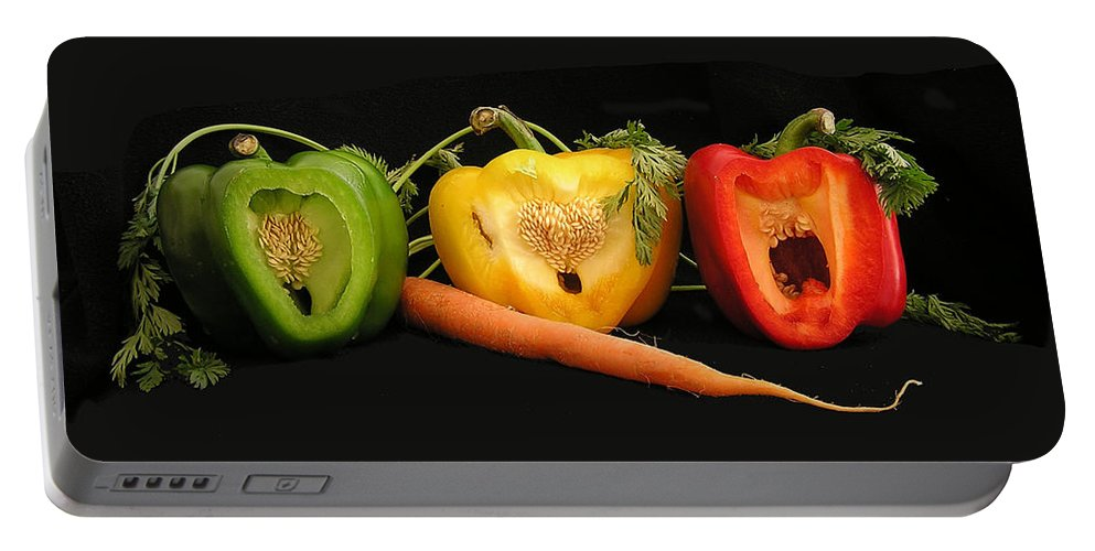 Pepper Portable Battery Charger featuring the photograph The Pepper Trio by Carol Milisen