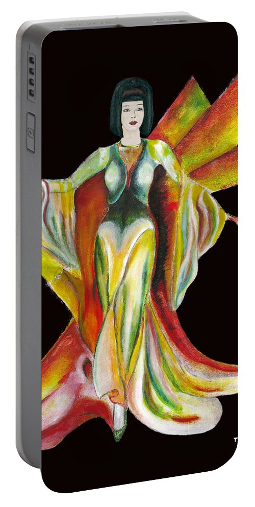 Dresses Portable Battery Charger featuring the painting The Phoenix 2 by Tom Conway