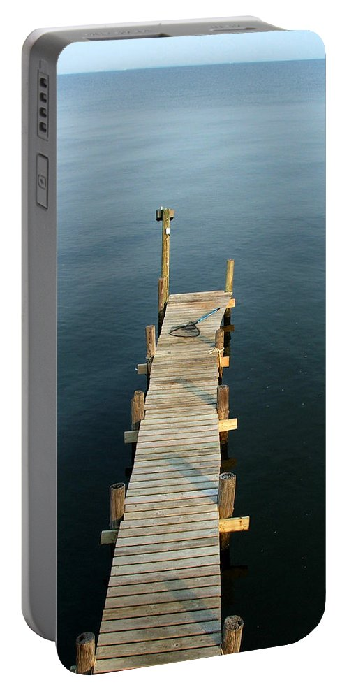 Pier Portable Battery Charger featuring the photograph The Pier by Robert Meanor