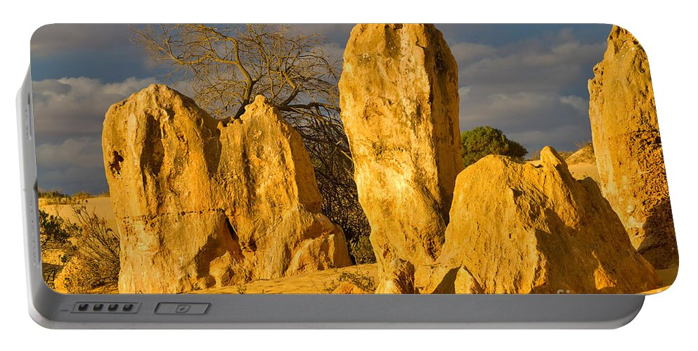 Travel Portable Battery Charger featuring the photograph The Pinnacles Nambung National Park Australia by Louise Heusinkveld