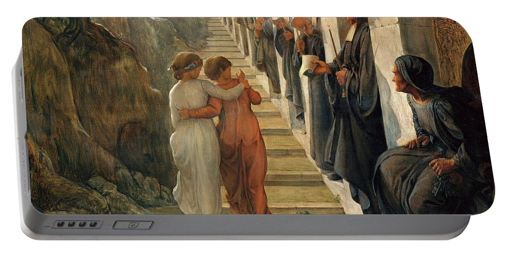 The Poem Of The Soul Portable Battery Charger featuring the painting The Poem Of The Soul - The Wrong Path by Louis Janmot