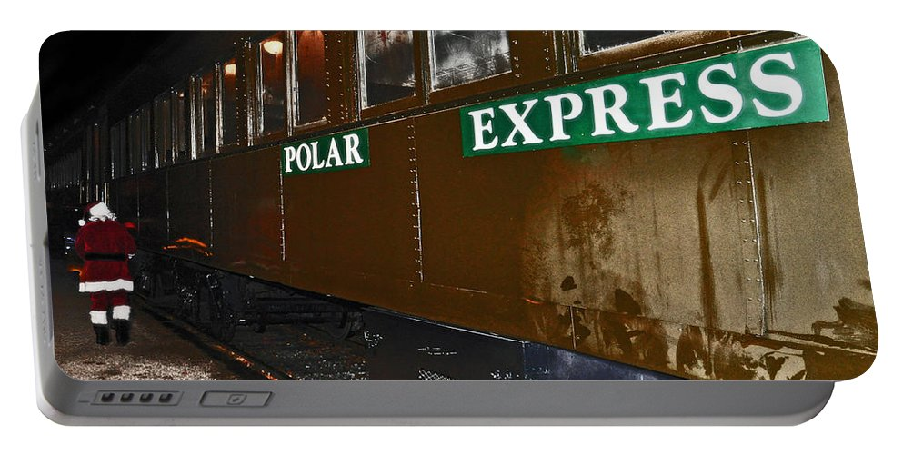 Santa Portable Battery Charger featuring the photograph The Polar Express by Brittany Horton