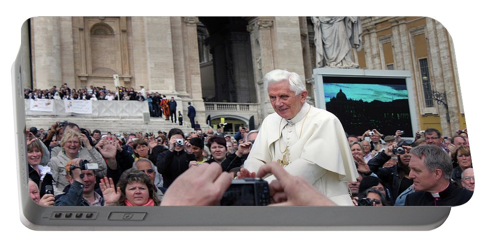 Pope Portable Battery Charger featuring the photograph The Pope by Munir Alawi
