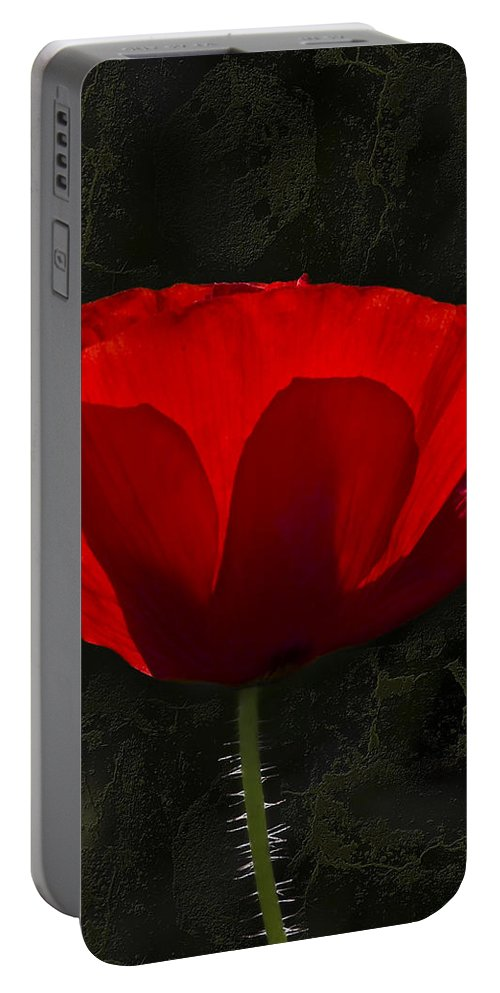 Poppy Portable Battery Charger featuring the photograph The Poppy by Svetlana Sewell