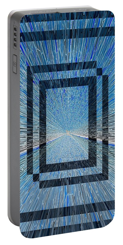 Abstract Portable Battery Charger featuring the digital art The Portal by Tim Allen