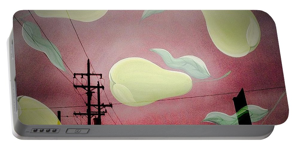 Pear Portable Battery Charger featuring the photograph The Power Of Pear by Jethro Singer