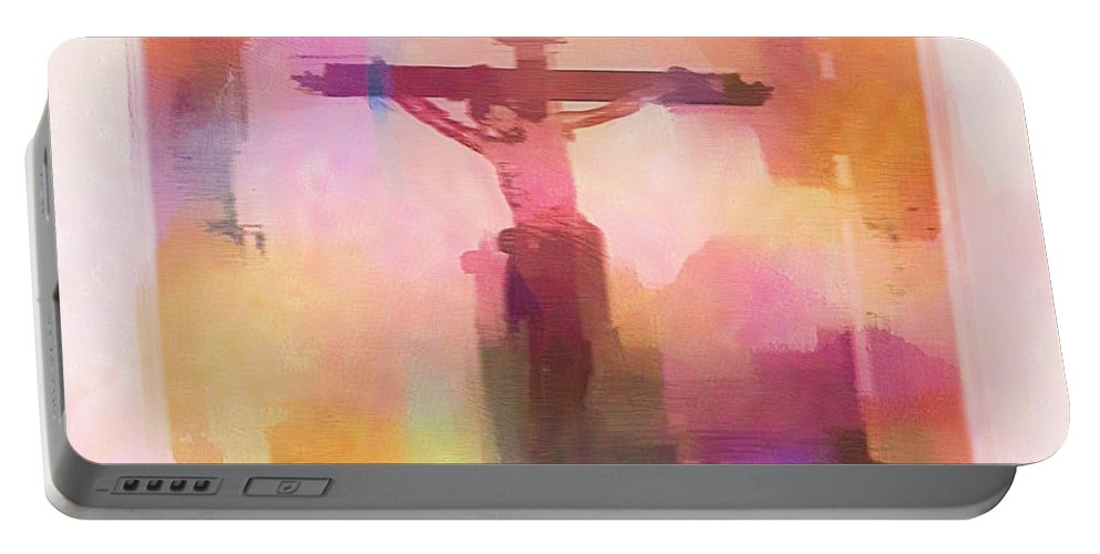 Impressionism Portable Battery Charger featuring the digital art The Price by Aaron Berg