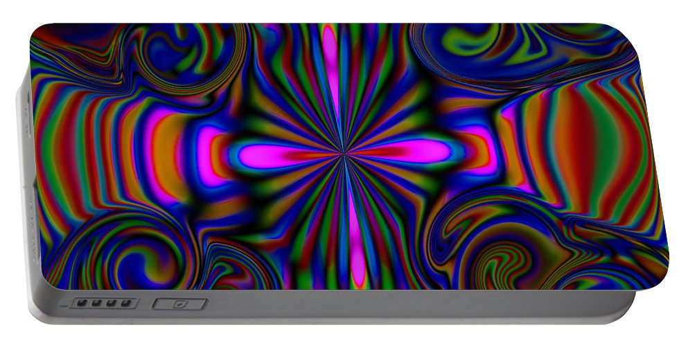 Rainbow Portable Battery Charger featuring the digital art The Rainbow Spirit by Debra Lynch