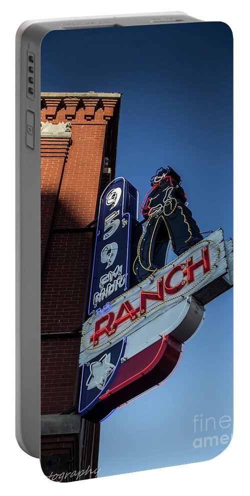 Radio Portable Battery Charger featuring the photograph The Ranch by Jennifer Seilhant
