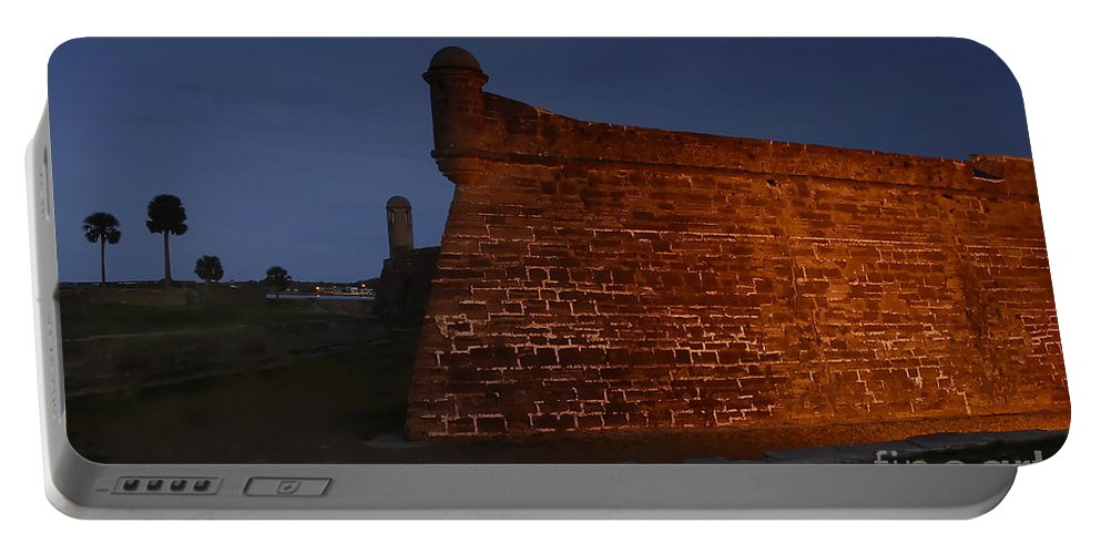 Castillo Portable Battery Charger featuring the photograph The Red Castillo by David Lee Thompson