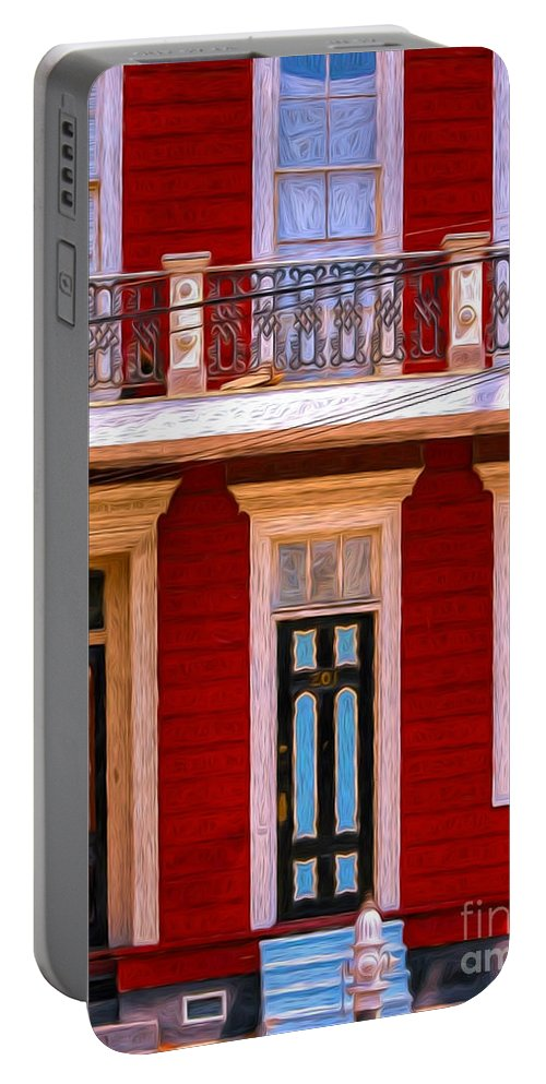 House Portable Battery Charger featuring the photograph The Red House-nola-faubourg Marigny by Kathleen K Parker